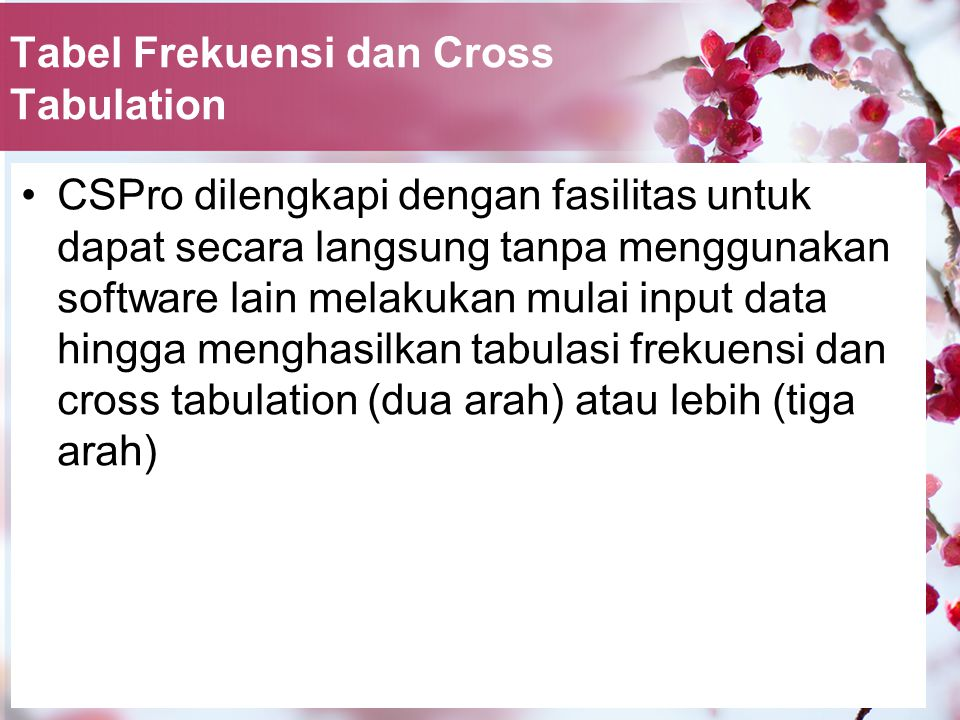 Tabel Frekuensi dan Cross Tabulation