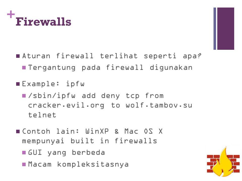 Firewalls Aturan firewall terlihat seperti apa