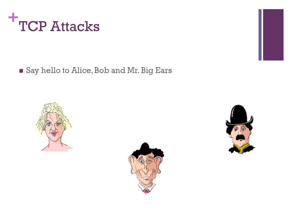 TCP Attacks Say hello to Alice, Bob and Mr. Big Ears