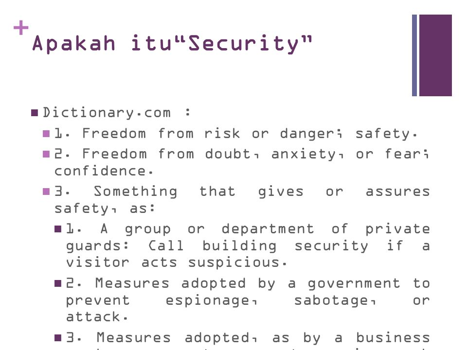 Apakah itu Security Dictionary.com :