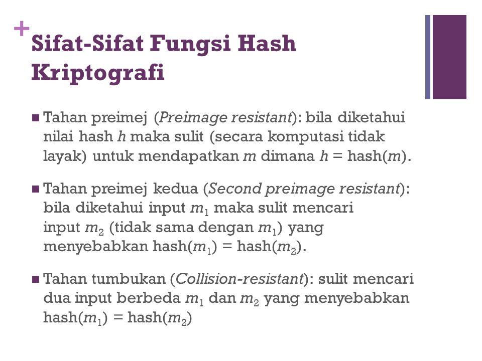 Sifat-Sifat Fungsi Hash Kriptografi