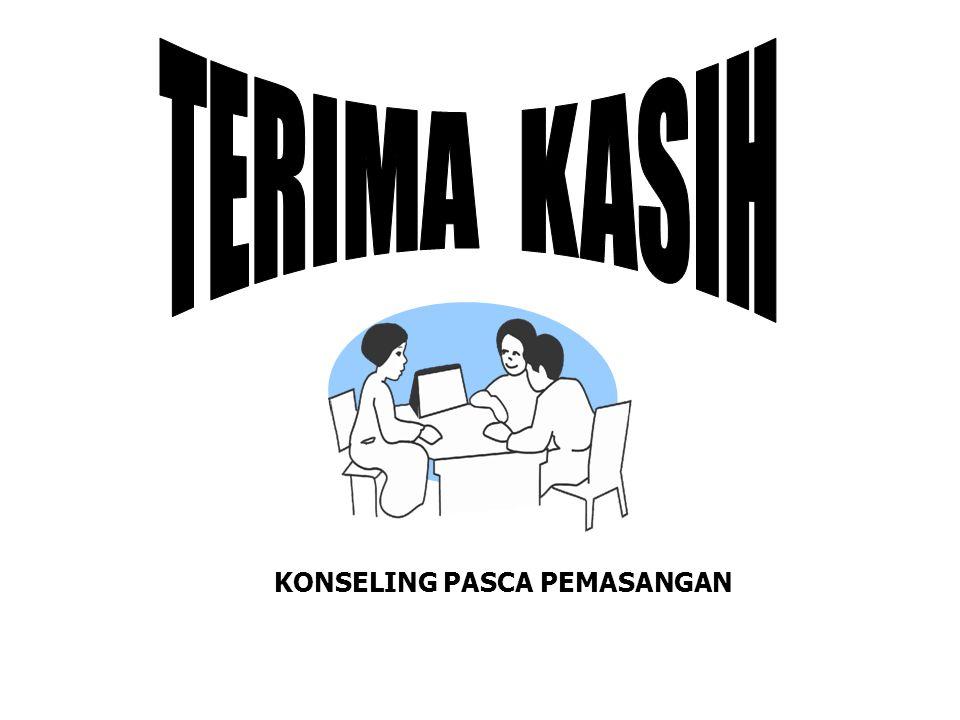 TERIMA KASIH KONSELING PASCA PEMASANGAN