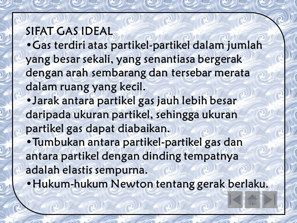 SIFAT GAS IDEAL