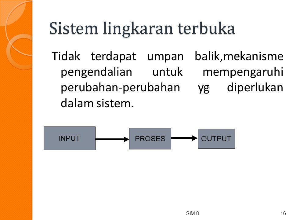 Sistem lingkaran terbuka