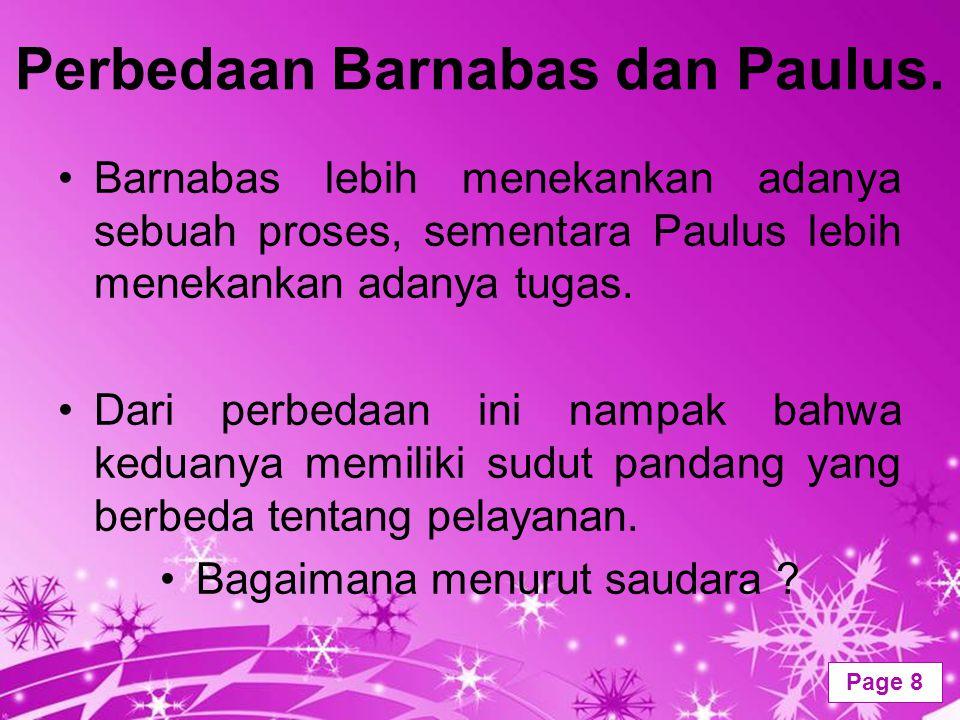 Perbedaan Barnabas dan Paulus.