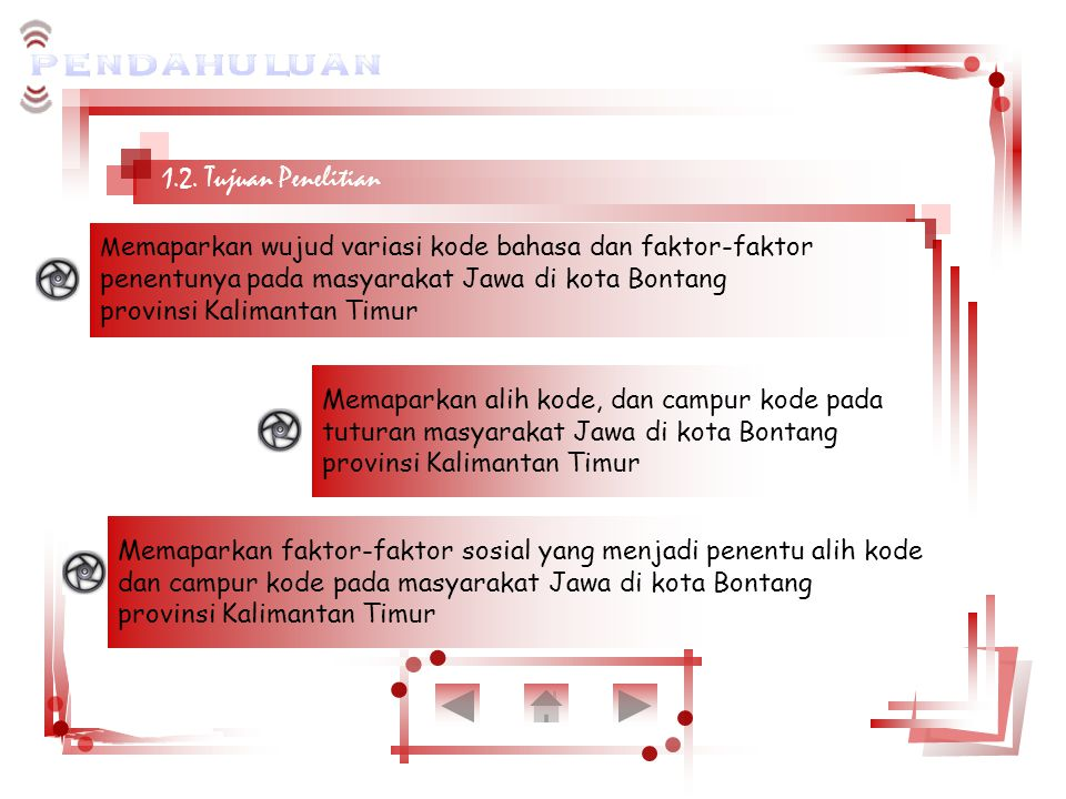1.2. Tujuan Penelitian penentunya pada masyarakat Jawa di kota Bontang
