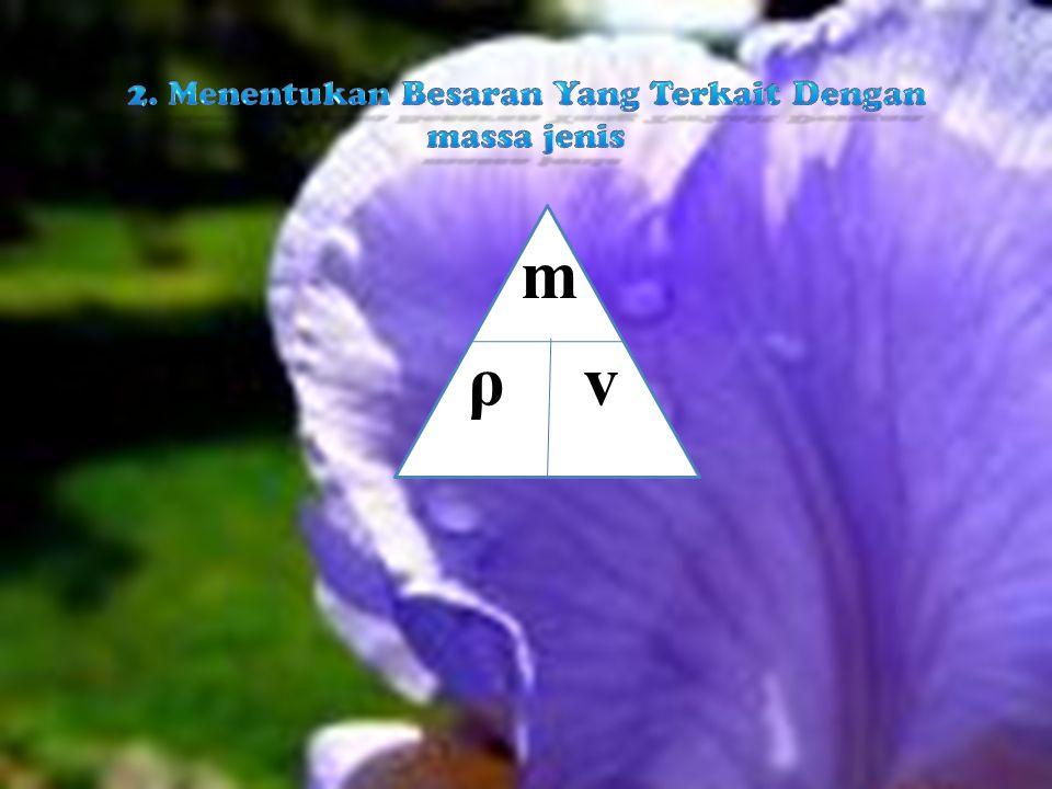 2. Menentukan Besaran Yang Terkait Dengan massa jenis