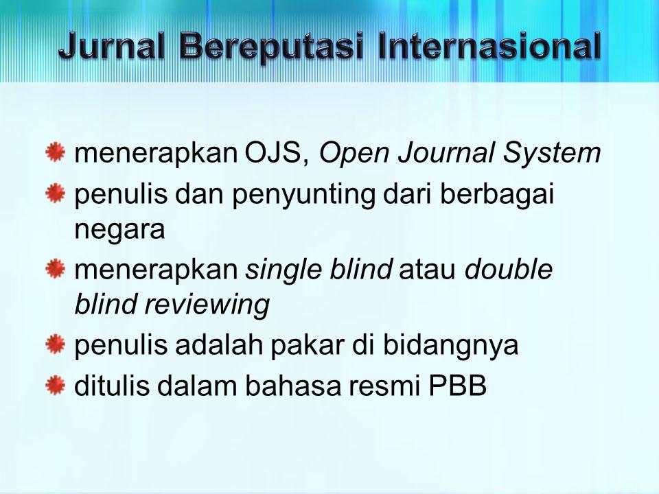 Jurnal Bereputasi Internasional