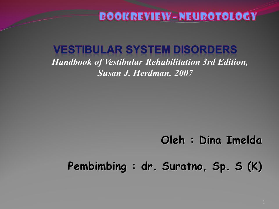 bOOKREVIEW– Neurotology