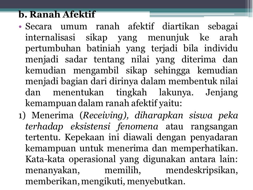 b. Ranah Afektif