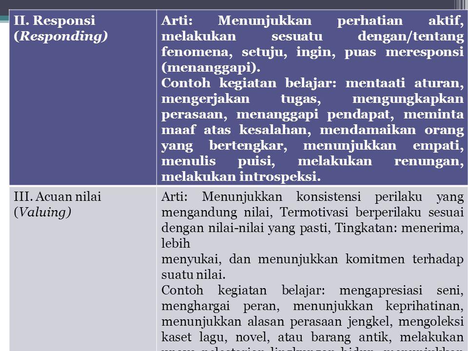 II. Responsi (Responding)