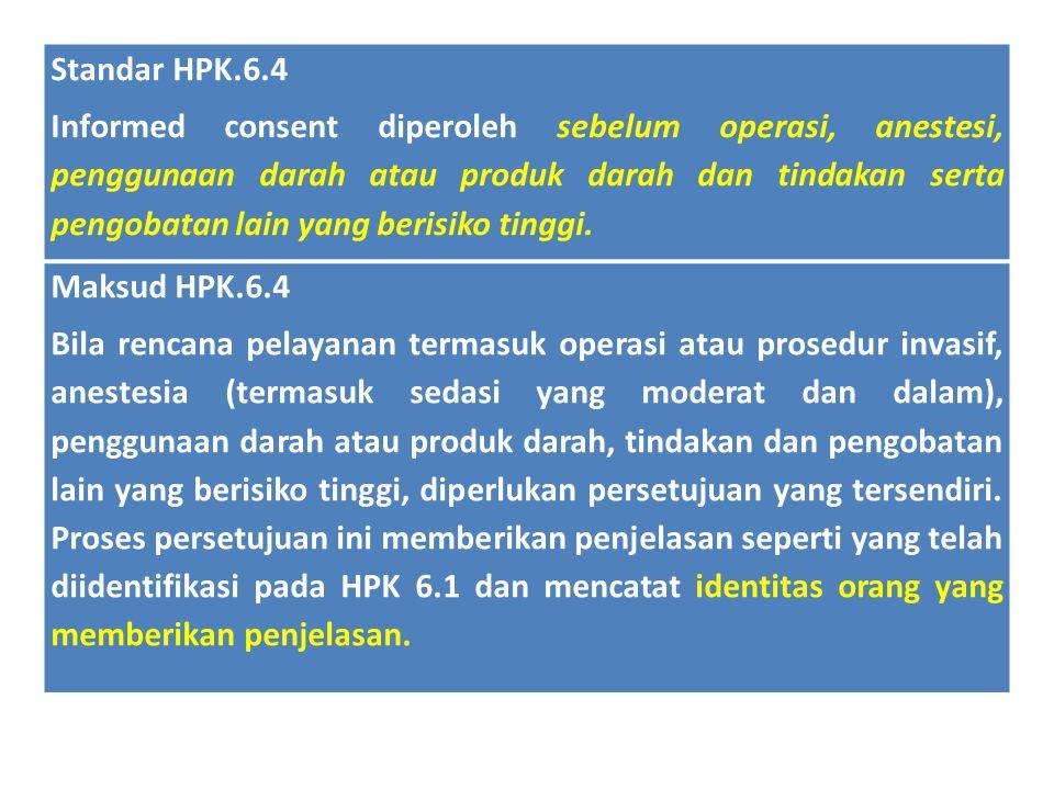Standar HPK.6.4