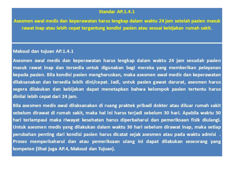 Standar AP.1.4.1
