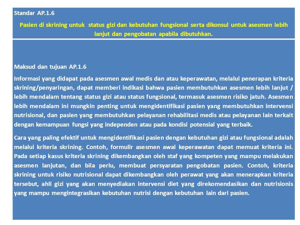 Standar AP.1.6