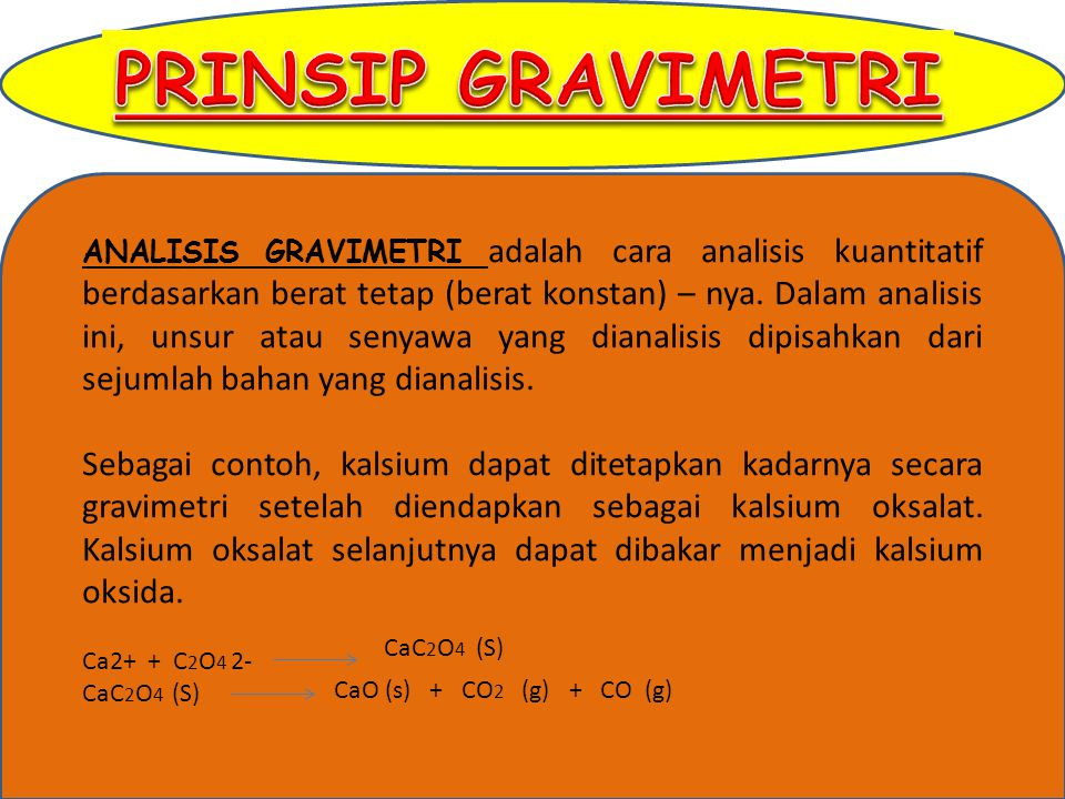PRINSIP GRAVIMETRI