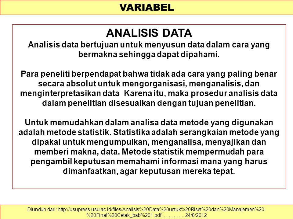 ANALISIS DATA VARIABEL