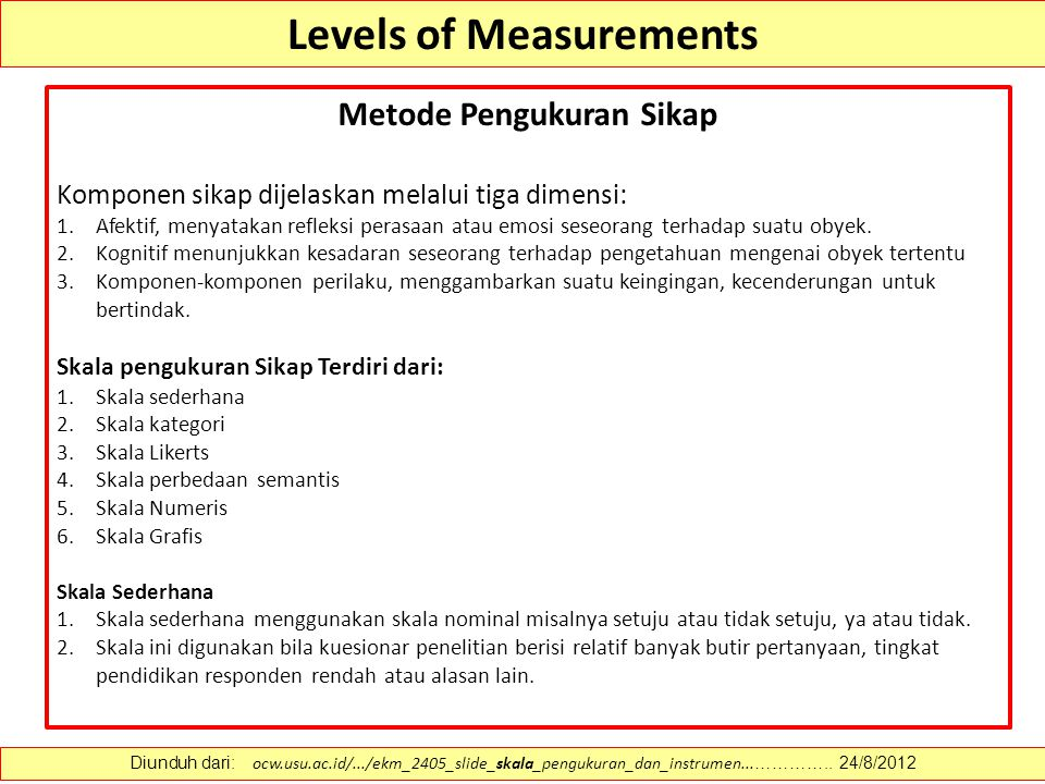 Levels of Measurements