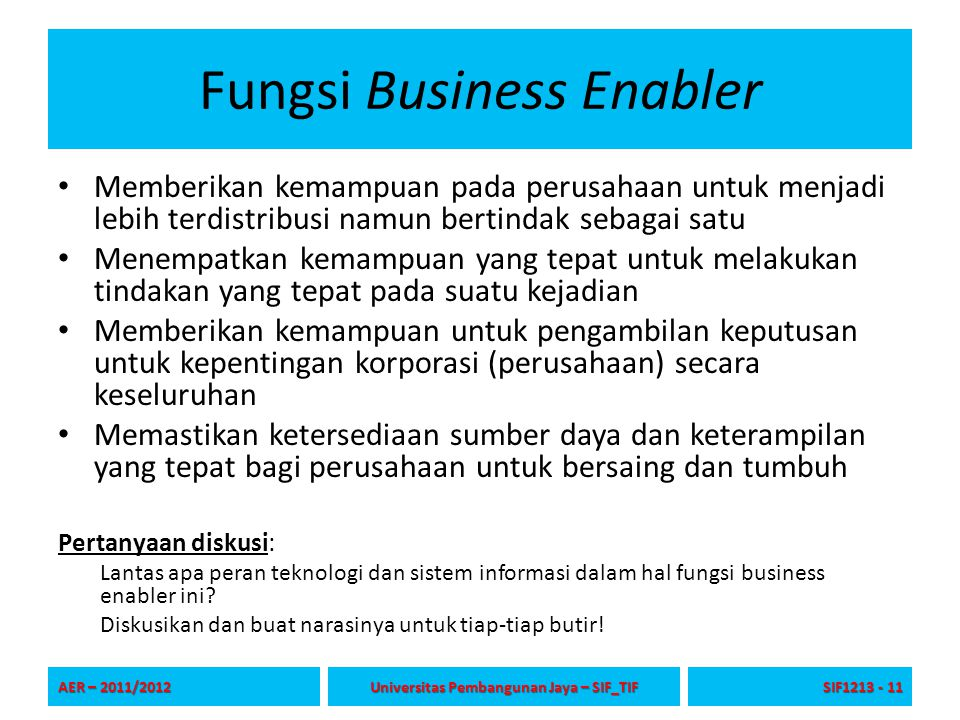 Fungsi Business Enabler