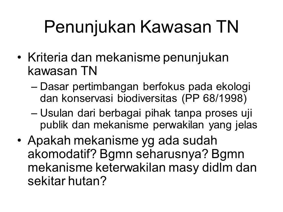 Penunjukan Kawasan TN Kriteria dan mekanisme penunjukan kawasan TN