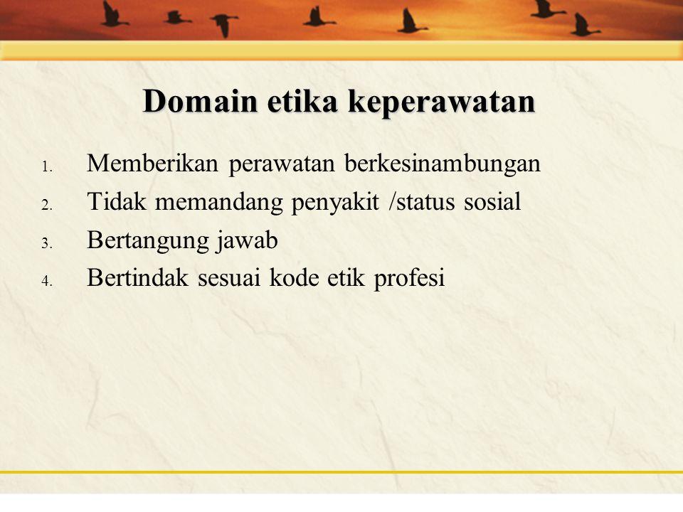 Domain etika keperawatan