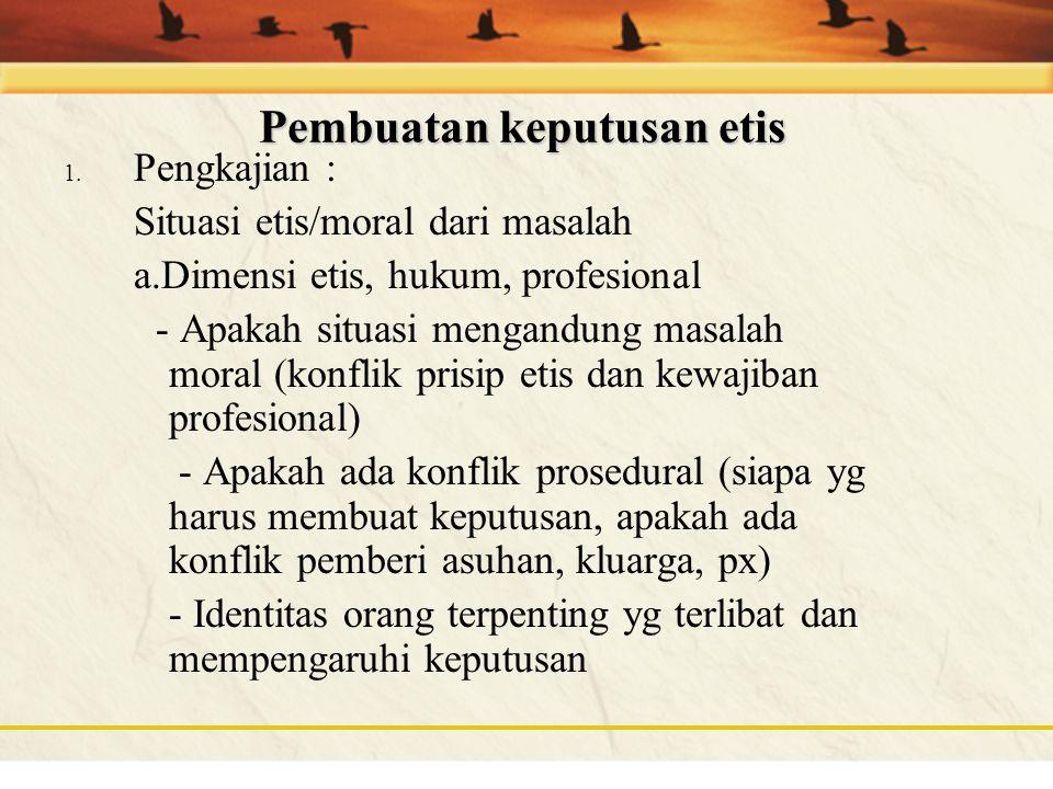 Pembuatan keputusan etis