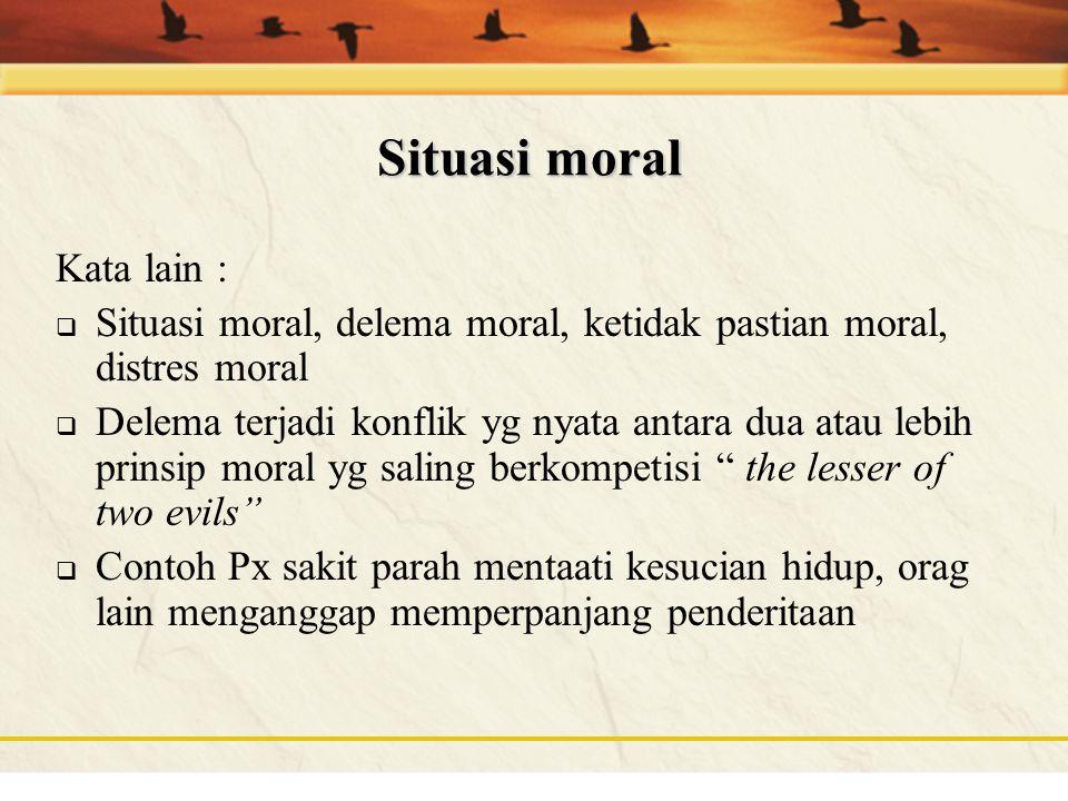 Situasi moral Kata lain :