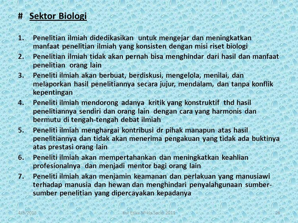 # Sektor Biologi