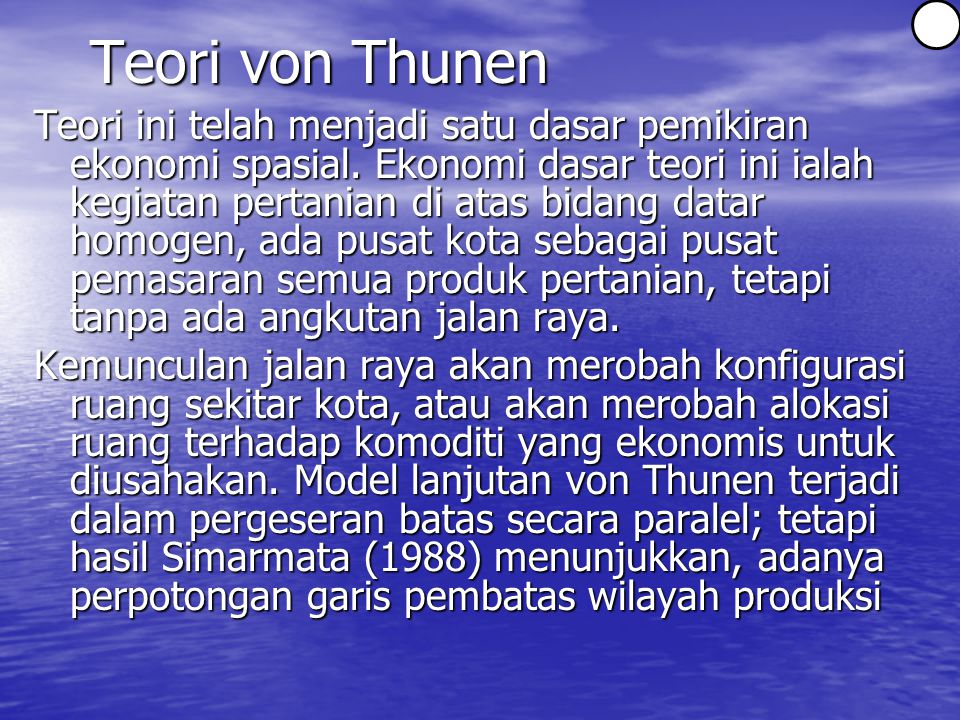 3 Teori von Thunen.