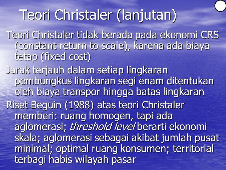 Teori Christaler (lanjutan)