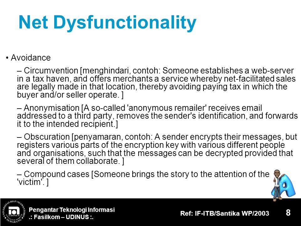 Net Dysfunctionality • Avoidance