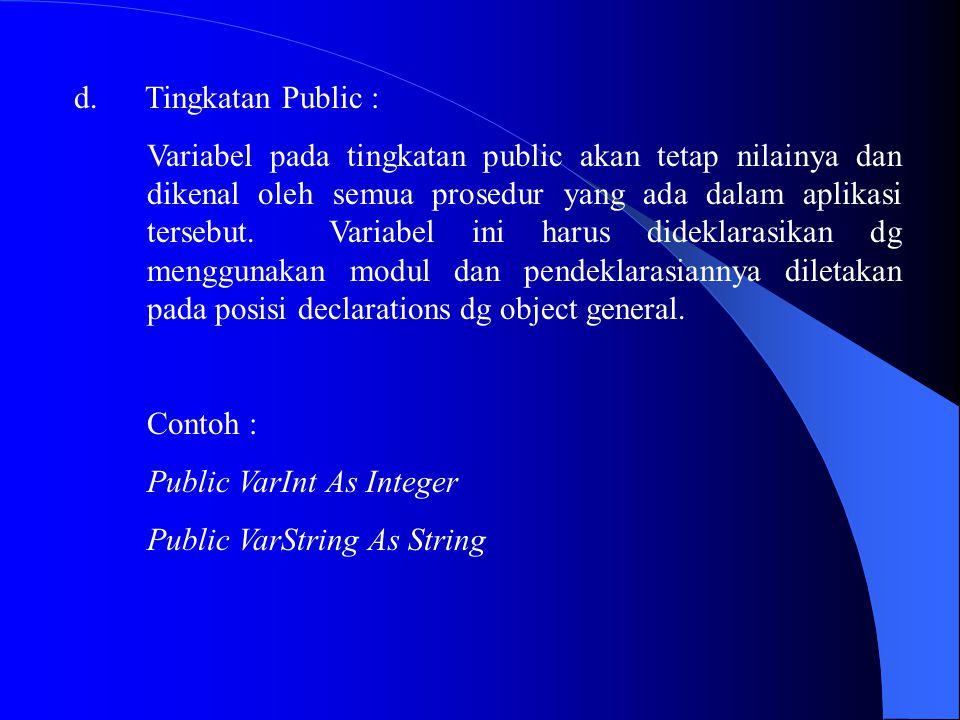 Tingkatan Public :