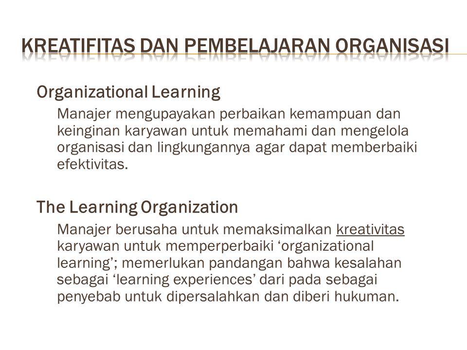Kreatifitas dan pembelajaran organisasi
