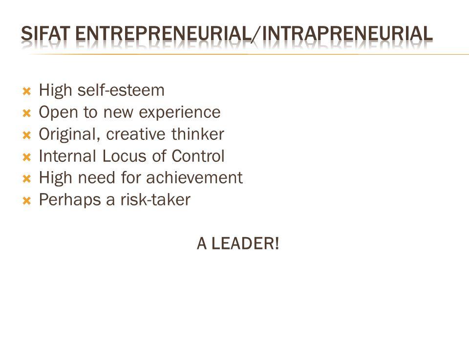 SIFAT Entrepreneurial/Intrapreneurial