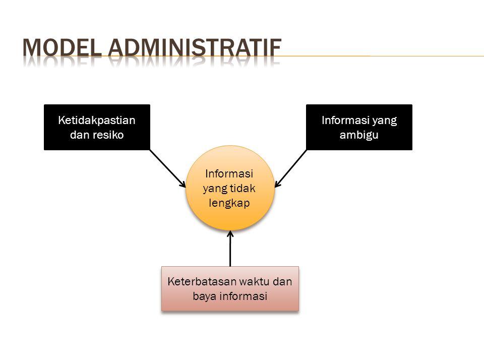 Model administratif Ketidakpastian dan resiko Informasi yang ambigu
