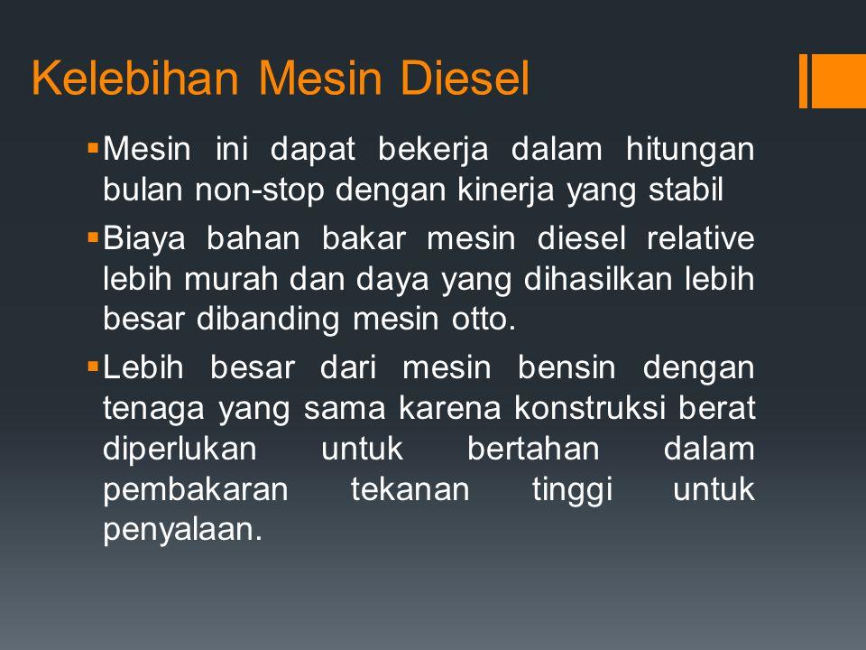 Kelebihan Mesin Diesel