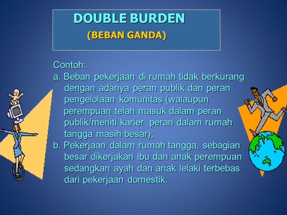DOUBLE BURDEN (BEBAN GANDA) Contoh: