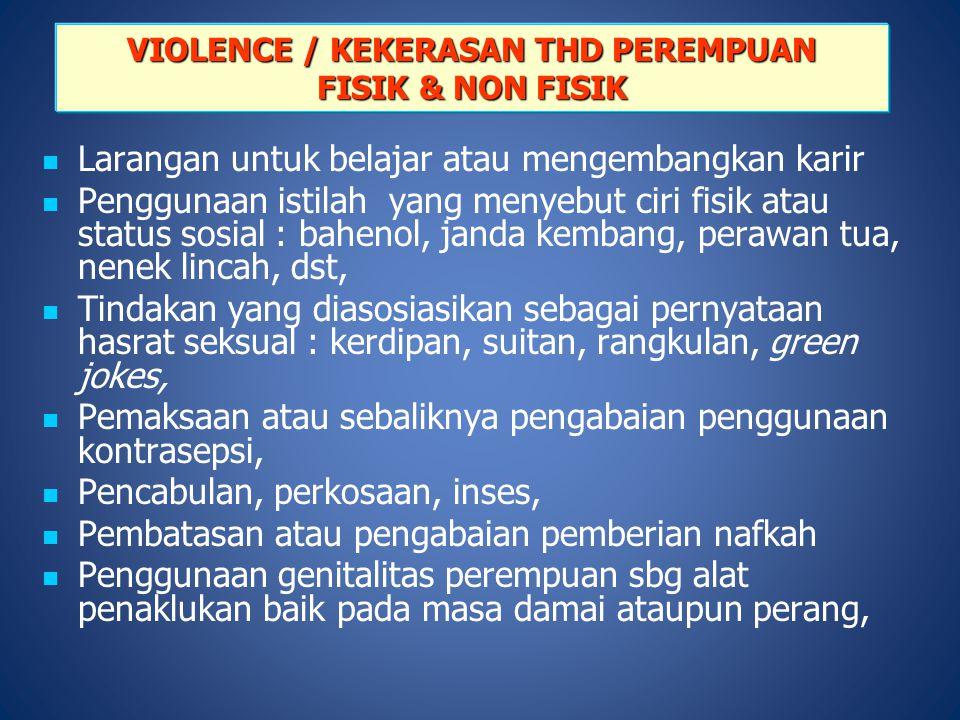 VIOLENCE / KEKERASAN THD PEREMPUAN