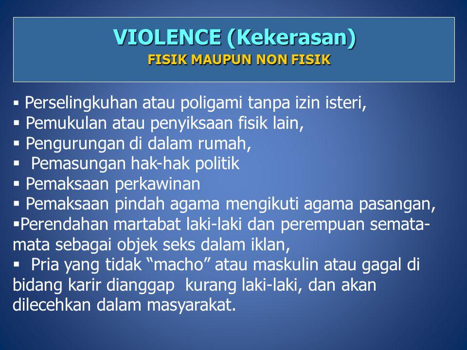 VIOLENCE (Kekerasan) FISIK MAUPUN NON FISIK