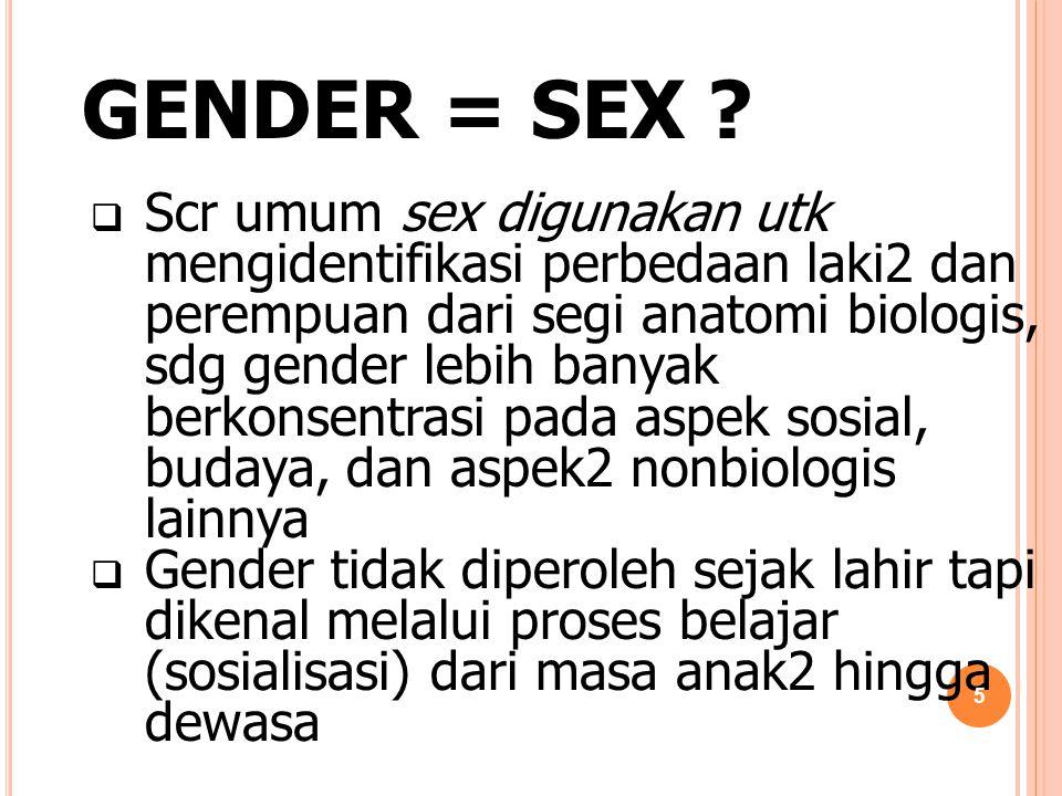GENDER = SEX