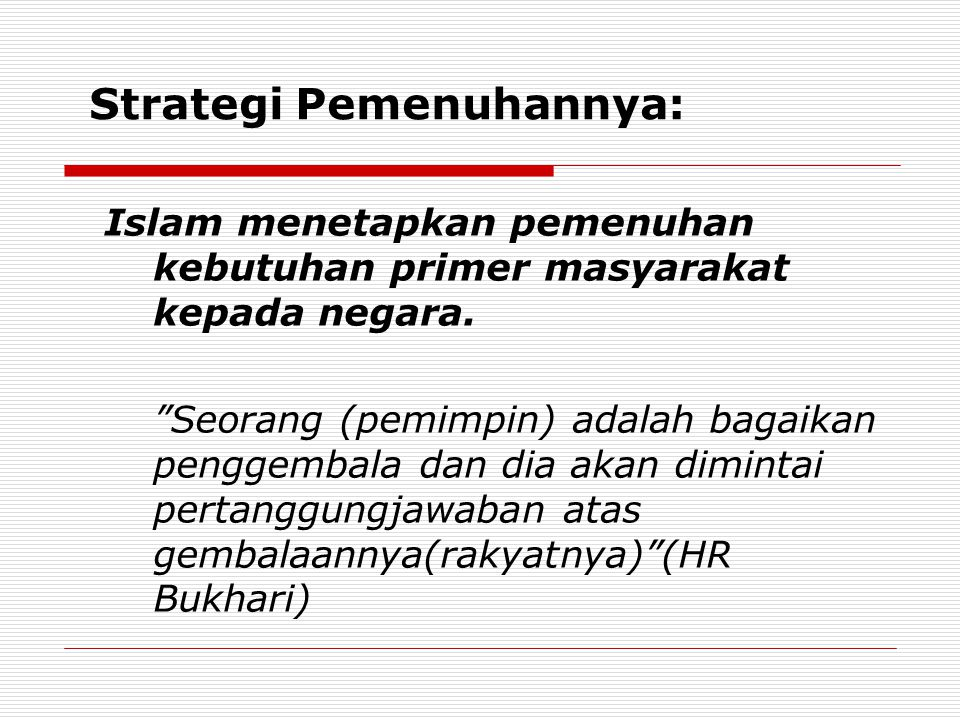 Strategi Pemenuhannya: