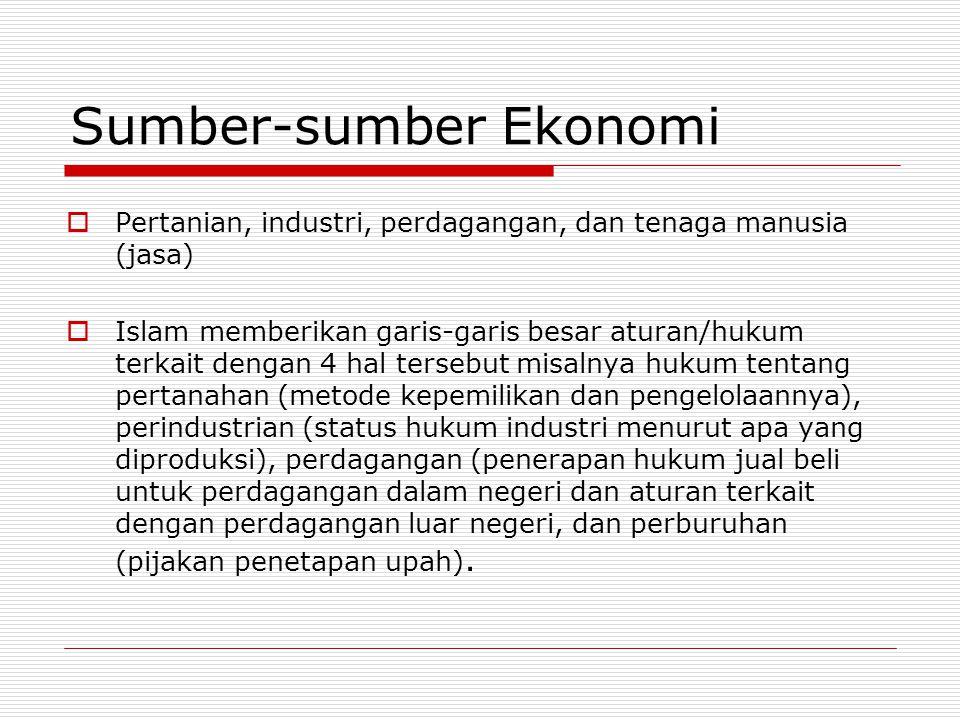 Sumber-sumber Ekonomi