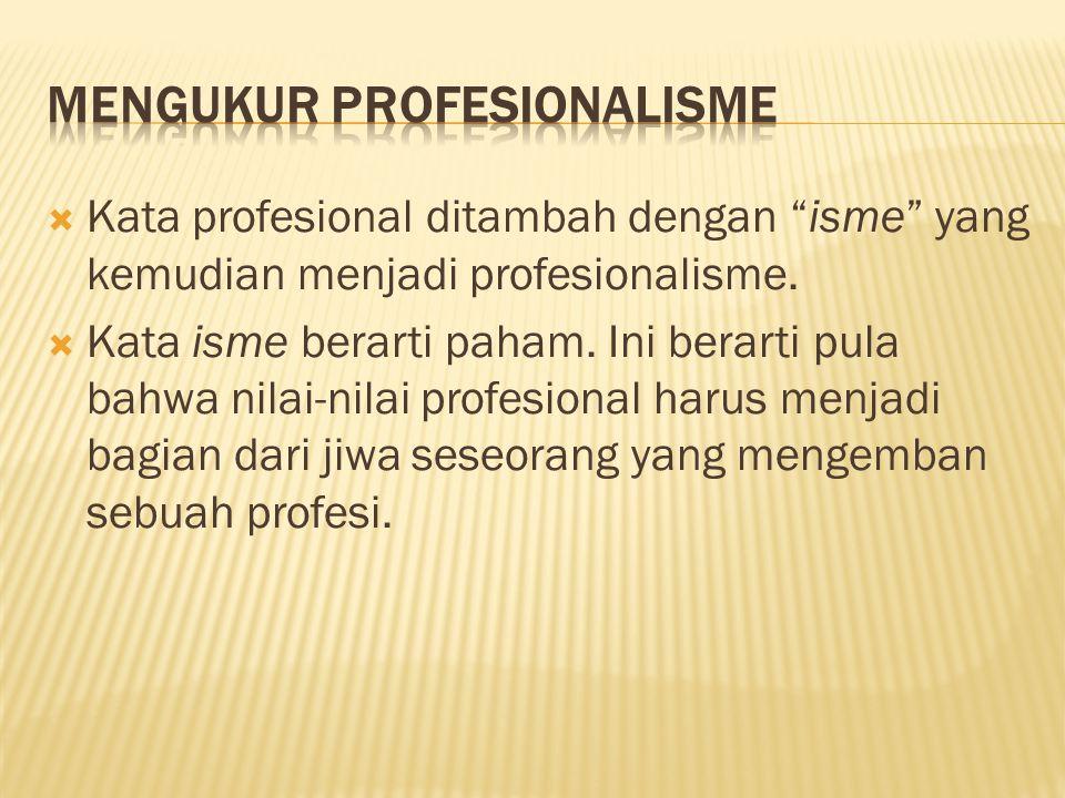 Mengukur Profesionalisme