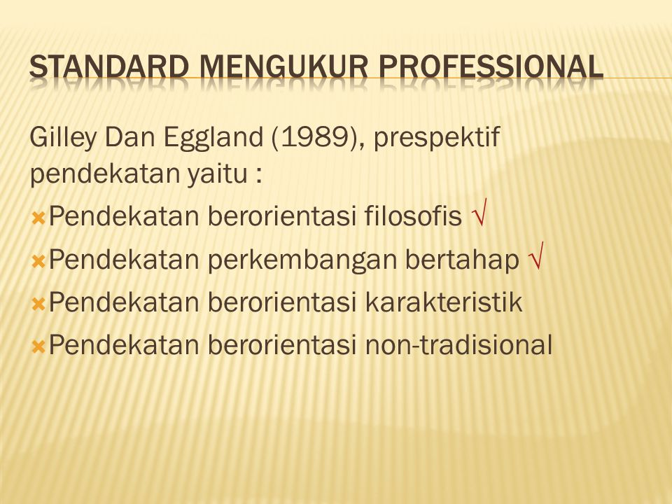 standard mengukur professional