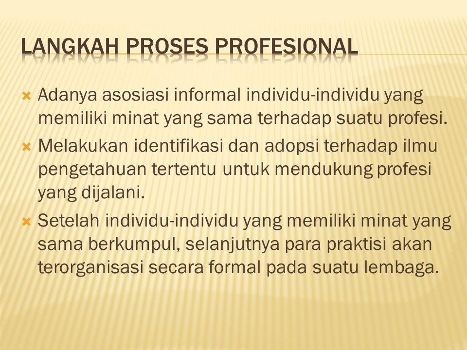 langkah proses profesional