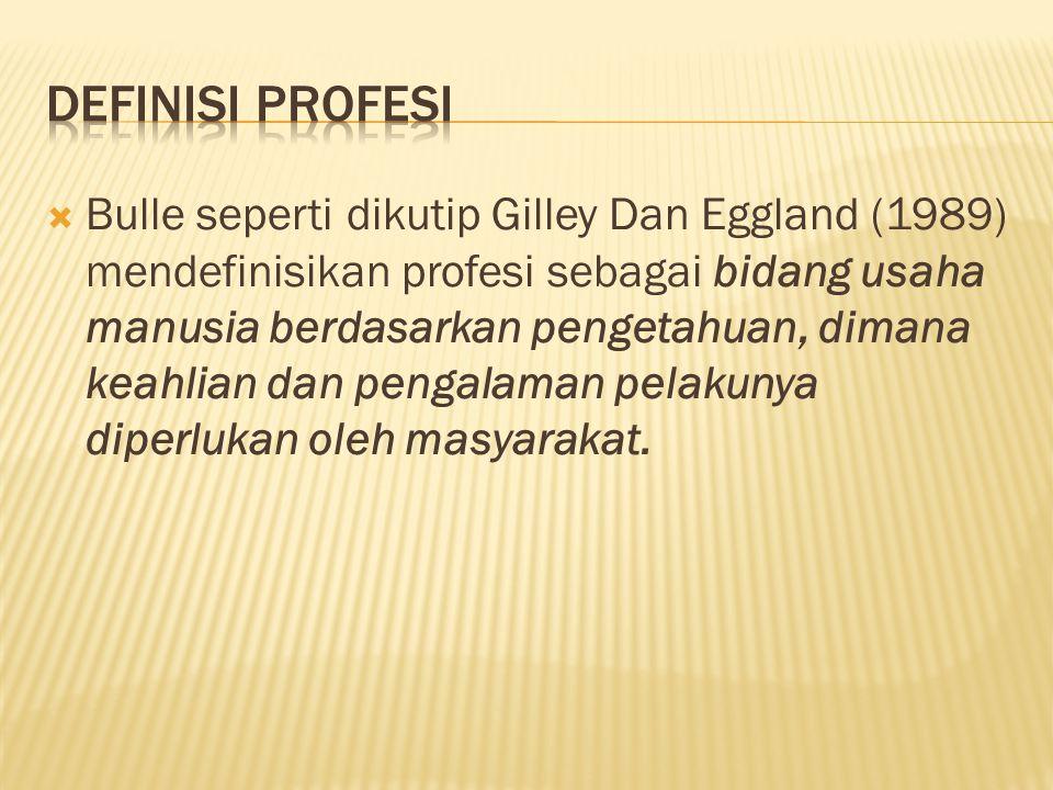 Definisi profesi