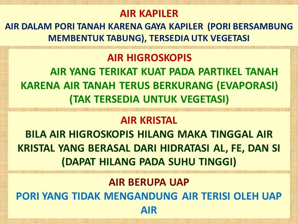 PORI YANG TIDAK MENGANDUNG AIR TERISI OLEH UAP AIR