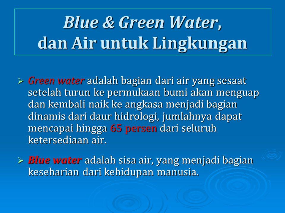 Blue & Green Water, dan Air untuk Lingkungan