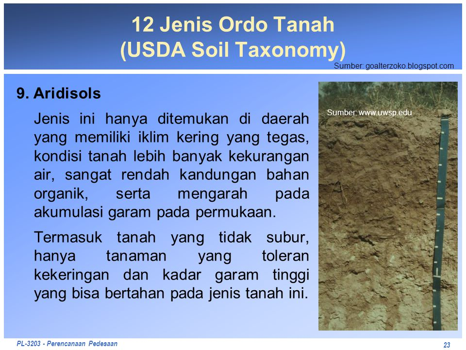 12 Jenis Ordo Tanah (USDA Soil Taxonomy)
