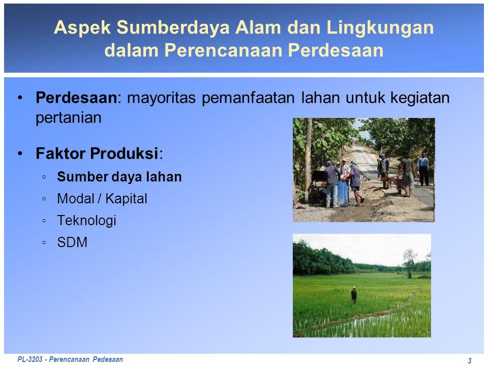 Aspek Sumberdaya Alam dan Lingkungan dalam Perencanaan Perdesaan
