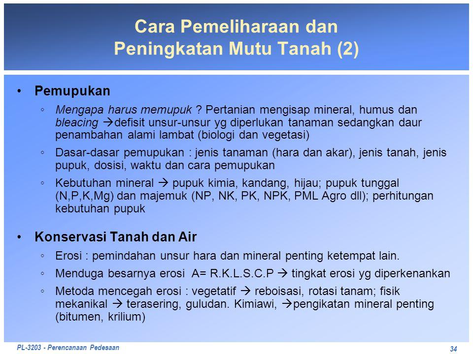 Cara Pemeliharaan dan Peningkatan Mutu Tanah (2)